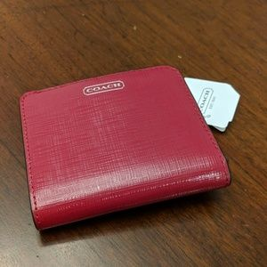 Coach saffiano leather small wallet